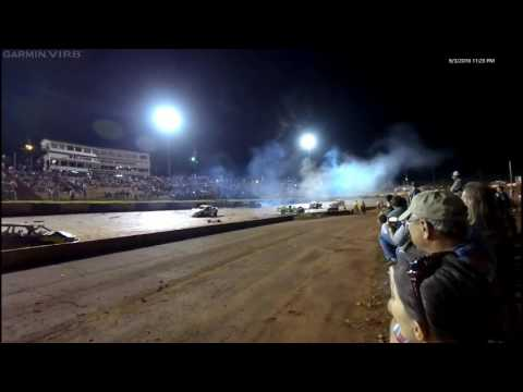 Dixie Speedway Compact Car Demolition Derby 9-3-16