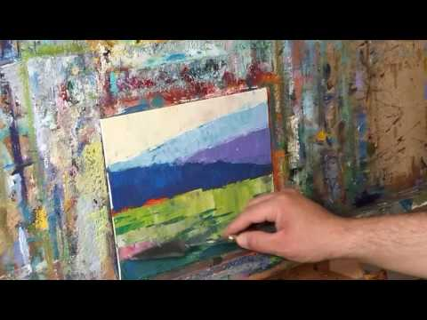 Impressionism Style Landscape Oil Painting Demo - Modern Art by Artist JOSE TRUJILLO