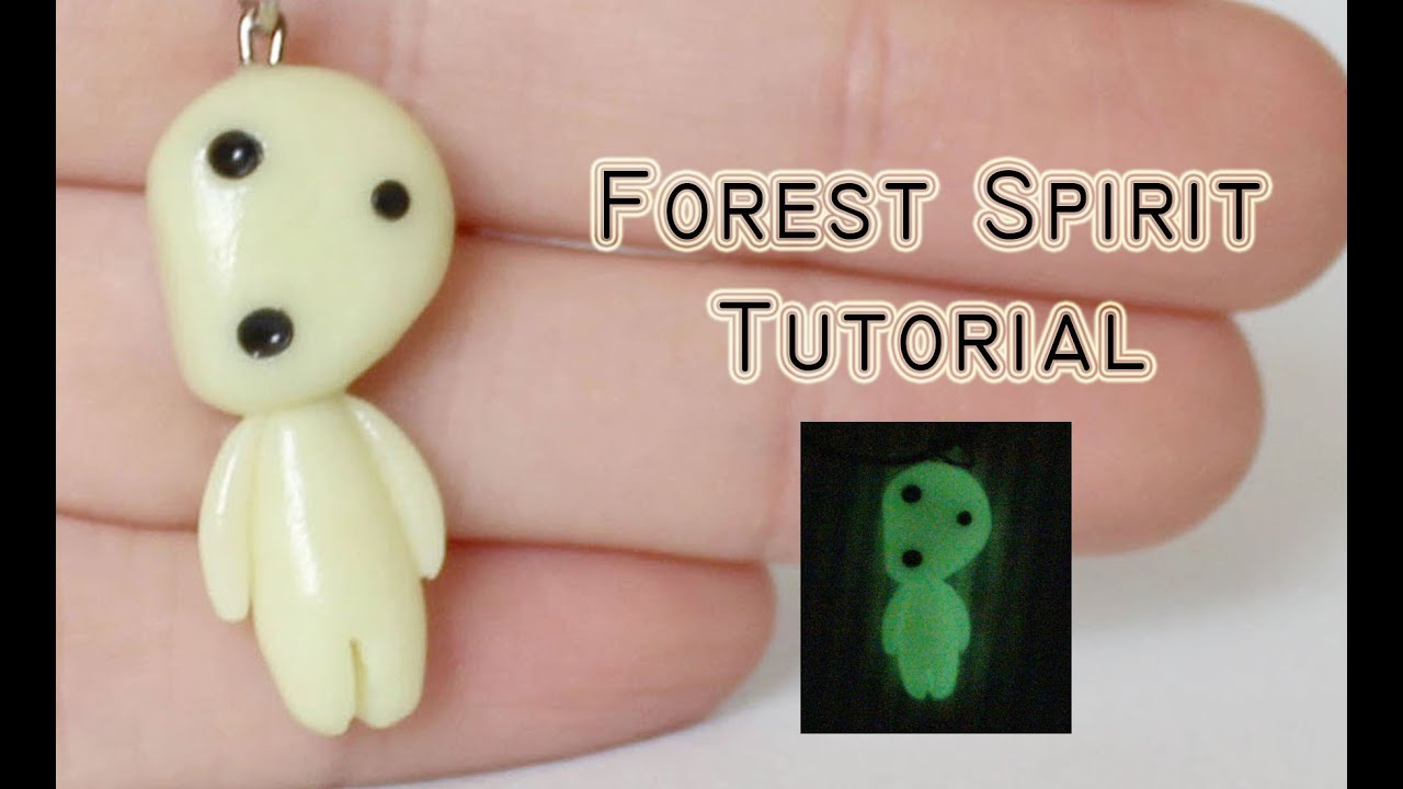 polymer Clay Tutorial: Kodama /Forest Spirit from Princess Mononoke by  Studio Ghibli