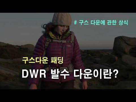 [박영준TV]  DWR 발수 다운이 뭘까? | 구스 다운 패딩 | 구스 다운 침낭 |