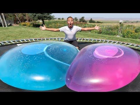 Download Youtube: GIANT WATER WUBBLE BUBBLE SUPER WUBBLES WATER BALLOON BUBBLE BALL NEVER POPS CHALLENGE 2017!!