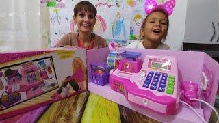 Barbie market kasası ile oynuyoruz oyuncak açtık, eğlenceli çocuk videosu, toys unboxing