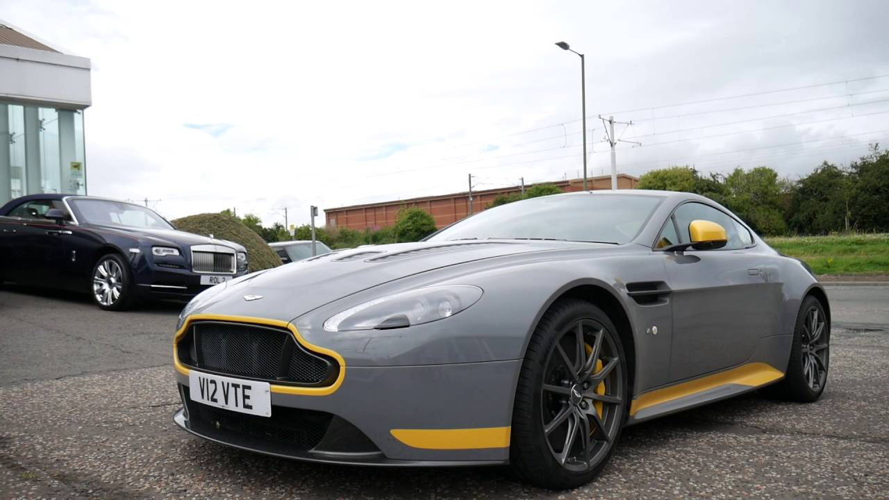 aston martin edinburgh - v12 vantage s manual - youtube