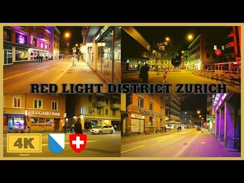Night Walk In The Red-Light District Zurich, Switzerland | Langstraße Zurich | Zurich Soft Lockdown