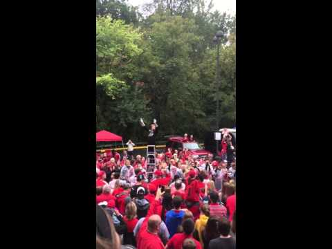 UGA red coat band fight song during the dawg walk
