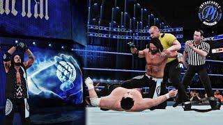 AJ Styles Updated Entrance Graphics/Trons feat. Samoa Joe Brawl/Attack SD Live (WWE 2K18 Mods)
