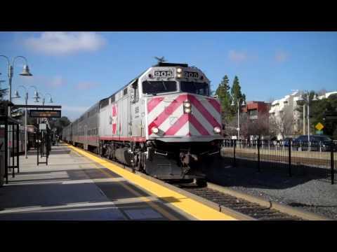 Southbound Caltrain 905 at Palo Alto Station, Jan 27 2010, 2:03pm