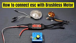 how to connect esc with harddisk motor or brushless motor