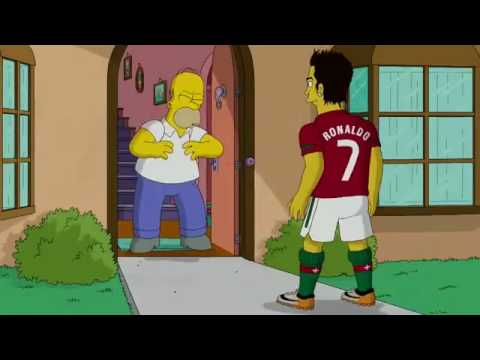 Cristiano Ronaldo Vs Homer Simpson ( The Simpsons )