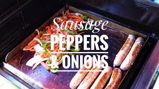 Griddle Hack For Your Pellet Grill  Sausage Peppers &amp Onions Recipe