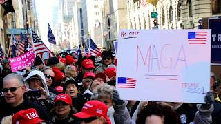 """""""Happy No Collusion Day!"""" Trump supporters take to streets of New York"""