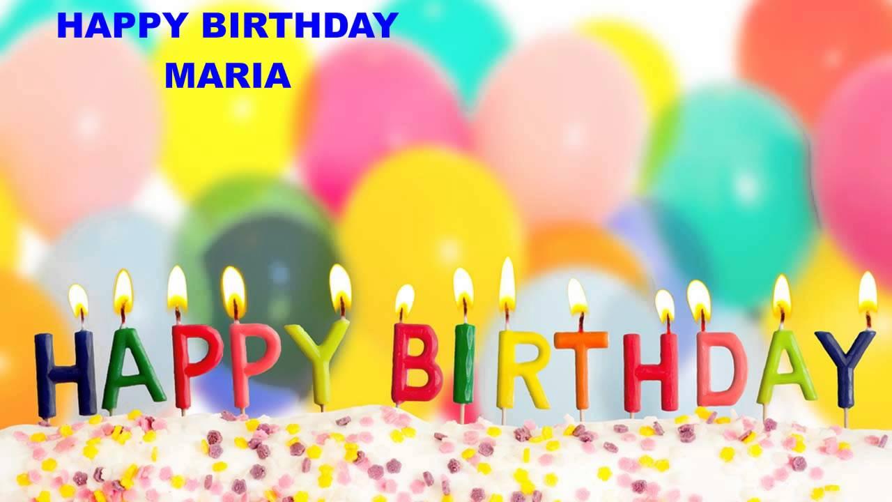 Maria Birthday Cakes Happy Birthday Youtube
