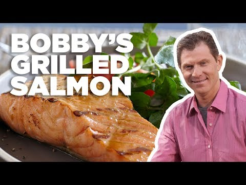 Bobby Flay's Best Grilled Salmon With Brown Sugar Glaze | Food Network