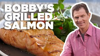Bobby Flay's Best Grilled Salmon with Brown Sugar Glaze