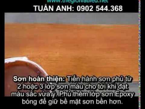 Huong dan ky thuat son tam xi mang cemboard gia go youtube for Dans boum boum tam tam
