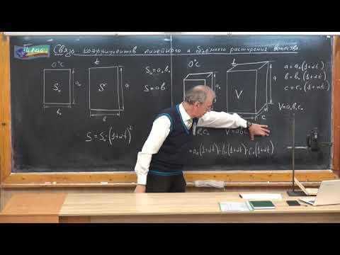 8 кл - 15. Связь коэффициентов линейного и объемного расширения