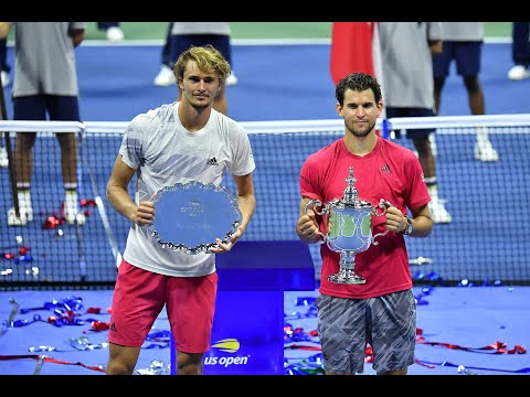 US Open 2020 Men's Singles Trophy Presentation