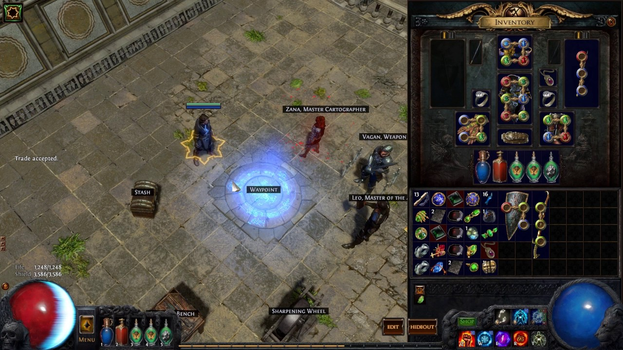 Path of Exile - How to Dual Wielding Melee Weapons with Wands