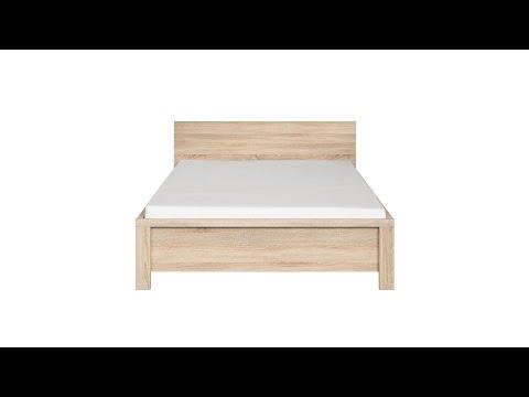 Кровать LOZ160х200_2 цвета дуб сонома