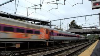 MBTA / Amtrak: Trains at Hyde Park, MA RR [F40/HHP8/Acela/ACS64]