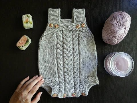 Вязание боди для новорожденных спицами с описанием