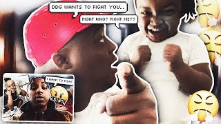 "DEAR DDG . . . WOO WOP ACCEPTS ""HE READY TO FIGHT YOU"""
