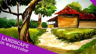 Watercolour Landscape Drawing | How to Draw #47
