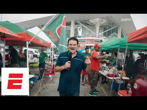 Miami Football Fans Teach Darren Rovell How To Tailgate Like A Hurricane   The Tailgater