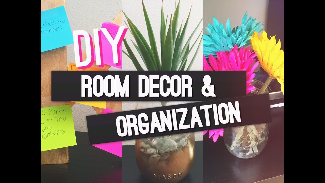Diy room decor and organization youtube for Room decor organization