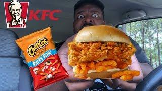 KFC New Cheetos Chicken Sandwich Review!!