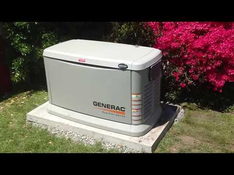The Guardian 20kW Generac generator running in it's weekly test mode.