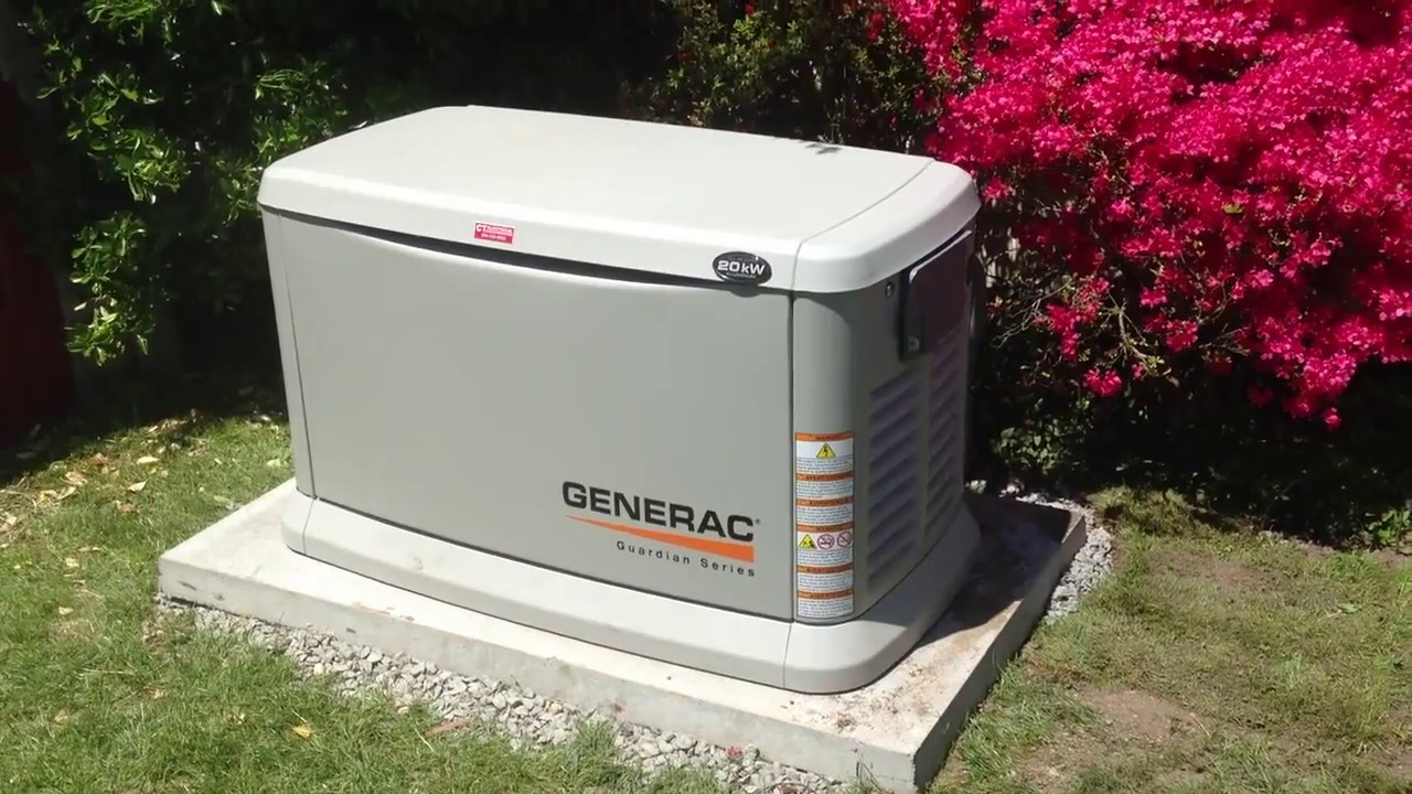 The Guardian 20kw Generac Generator Running In It S Weekly Test Mode