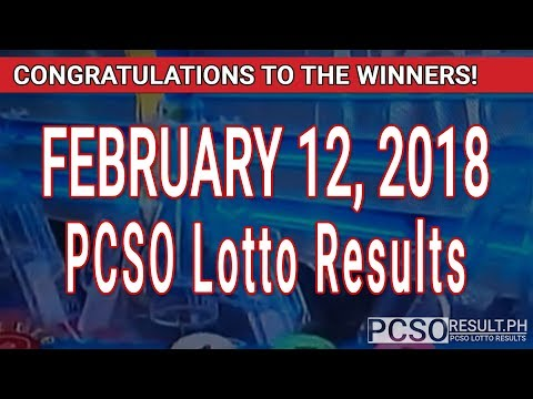 PCSO Lotto Results Today February 12, 2018 (6/55, 6/45, 4D, Swertres, STL & EZ2)
