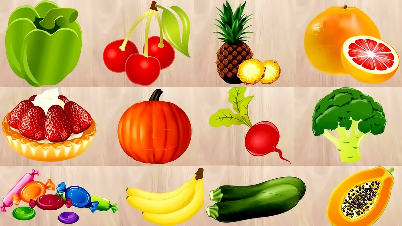 Vegetables names in English with Pictures for kids, babies ...