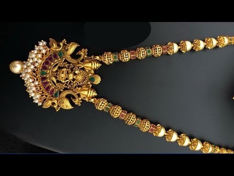 Gold Beaded Traditional Necklace Designs 2019