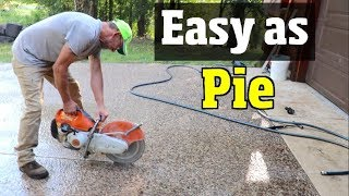 DIY Driveway for $660  - Concrete repair Part #1 - Cement repair, resurface and renovation