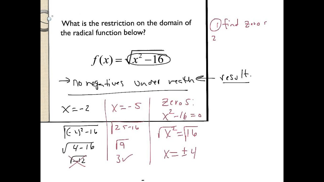 8 6 domain of a radical function ex 1 youtube 8 6 domain of a radical function ex 1 ccuart Image collections