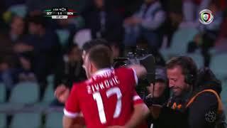 Golo de Raúl Jiménez: Setúbal 1-(1) Benfica (Liga 29ªJ)