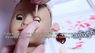 How To Repair Eyelids Paint Scratches on American Girl Doll Tutorial ~HD~(, 2015-08-08T09:01:25.000Z)