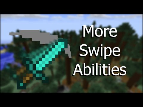 More Swipe Abilities -- Vanilla Minecraft 1.9 Command Blocks