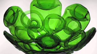 Recycled glass art by Bryan Northup