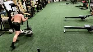 Sled day workout at Hyperswole