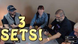 Poker Time: 3 SETS for WSOP Finalist Jacki Burkhart!