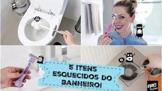5 ITENS ESQUECIDOS DO BANHEIRO QUE VOCÊ DEVE LIMPAR!   Organize sem Frescuras!