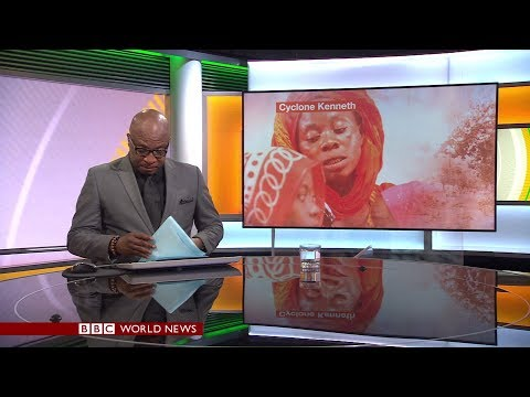 BBC Focus on Africa -  Cyclone Kenneth makes landfall in Mozambique