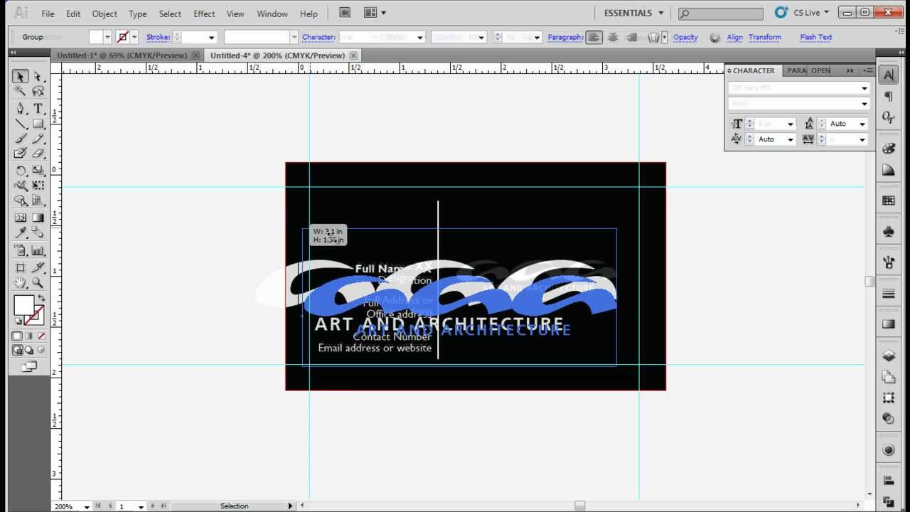 How to Design a Standard Business Card Using Adobe Illustrator CS5 ...