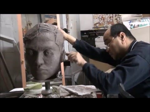 Jose Rizal, making of the bust by Raimundo Folch/ Como se hizo el busto