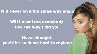 Ariana Grande - Off The Table ft. The Weeknd (Lyrics)