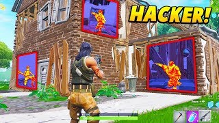 I played HIDE & SEEK with a REAL WALL HACKER in Fortnite.. (Fortnite Battle Royale)