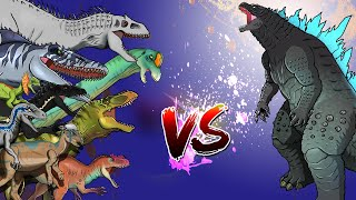 Dinosaurs Battle | Godzilla VS Jurassic World Dinosaurs